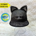 M summer hat yarn lace female cat ear hat shading baseball cap equestrian cap cap uv protection
