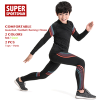 Kids Running Gym Sportswear Men Training Jogging Suits Baby Boys Sports Wear Children Fitness Clothing Workout Clothes Sets 2pcs