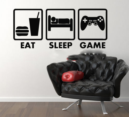 Controller Joystick para Juegos de Video Juego Xbox Vinilo Eat Sleep Home Decor