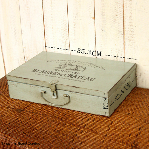 zinc lidded eco painting decoration american retro vintage desktop storage boxeschina