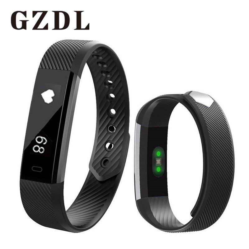 Gzdl <font><b>Smart</b></font> Band ID115 <font><b>Bluetooth</b></font> браслет Heart Rate Мониторы сна Фитнес трекер Шагомер Смарт Браслет Android и IOS WT8116