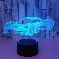 Neue Sport Auto Bunte 3d Nachtlicht Bunte Licht Touch Fernbedienung 3d Led Vision Geschenk Led Usb Tisch Lampe|LED-Nachtlichter|   -