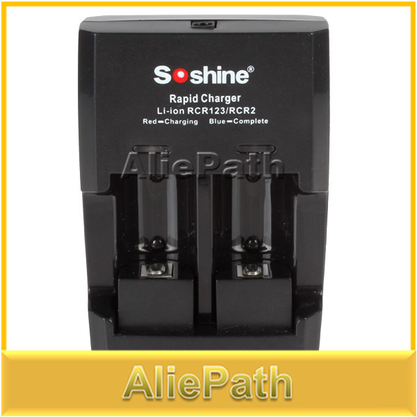 Projeto novo soshine li-fepo4 rcr 123/cr2 bateria carregador rápido inteligente