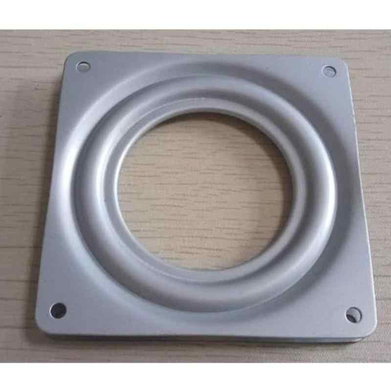 4.5 Inch Square Pameran Turntable Bearing Putar Piring Dasar Mekanik Proyek Engsel Mekanisme Hardware Fitting Rotary Alat