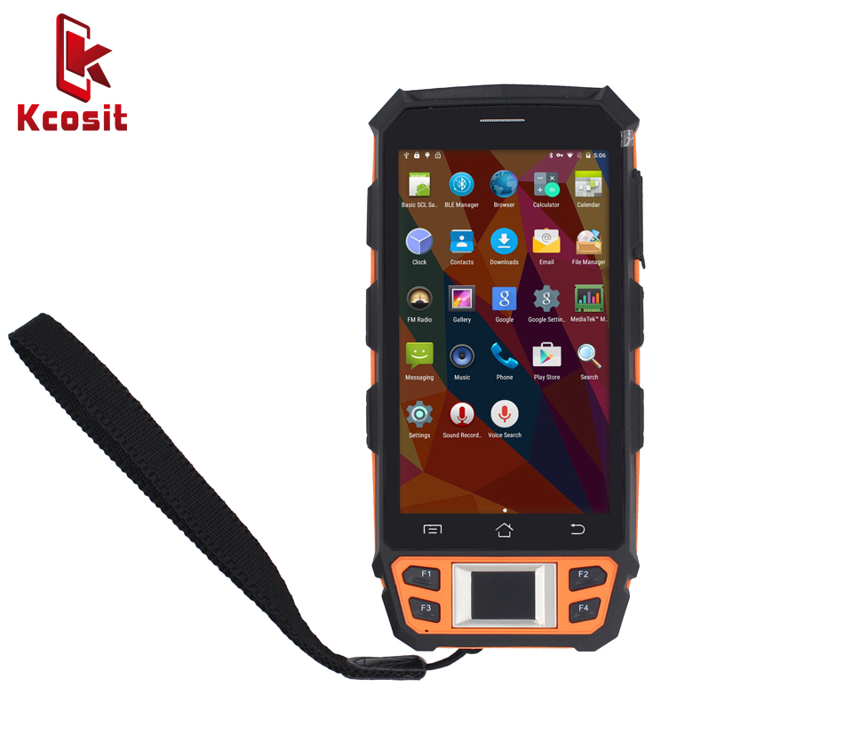 China Handheld Terminal Kcosit C5 PDA Fingerprint Reader UHF HF LF RFID 1D 2D Laser Barcode Android 5.1 Scanner 4G 2GB RAM NFC caribe pl 40l ip65 rugged industrial mobile bluetooth pda 1d barcode scanner android 5 1