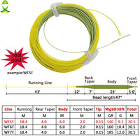 JSM length 100 Feet REAL GOLD Fly Fishing Line Weight Forward Floating Fly Line with 2 Welded Loops floating line|Fishing Lines|Sports & Entertainment -