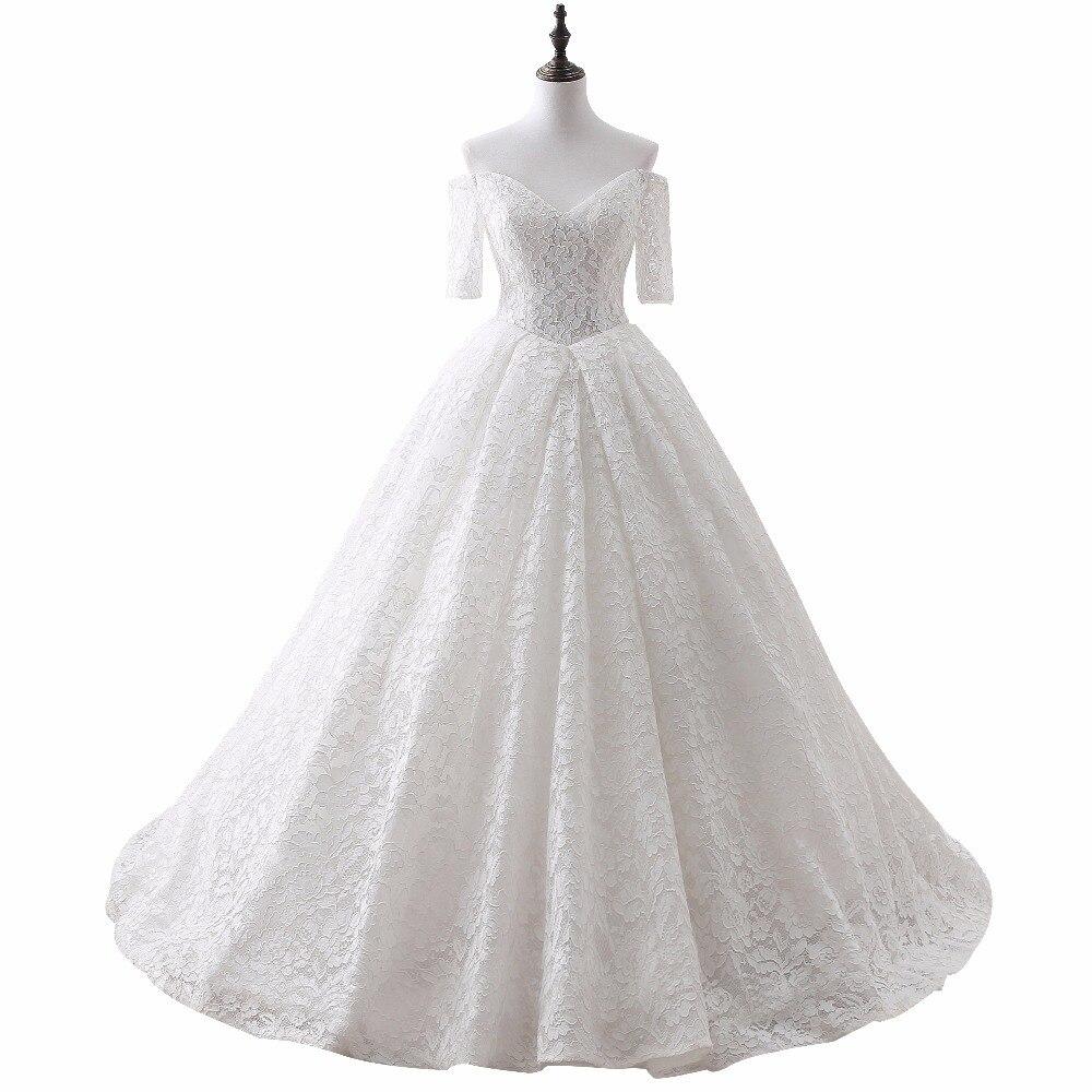 2019 2018 Simple Lace Wedding Dresses White/Ivory Stock