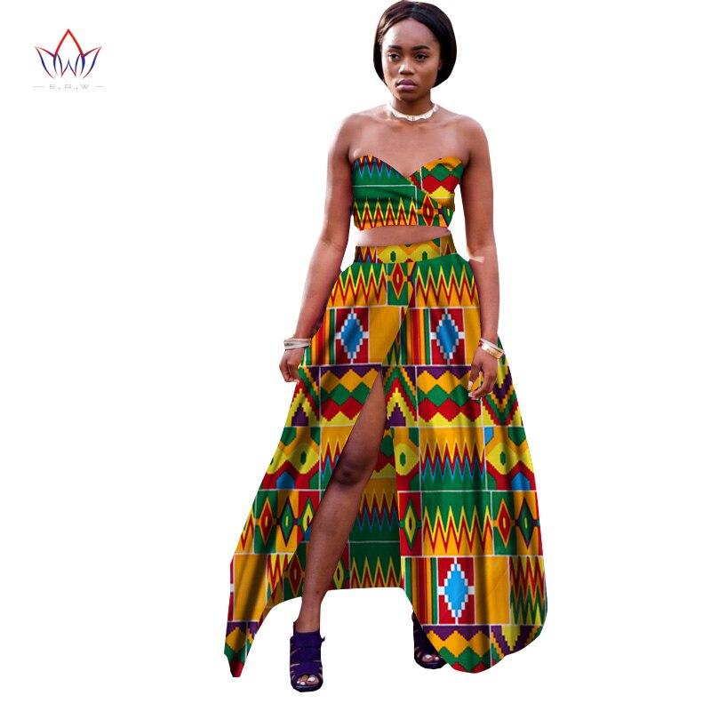 Hot Sale 2017 Brw Private Custom African Dress Bazin Riche Women