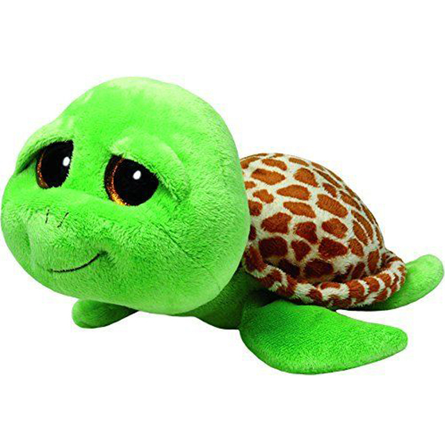 Pyoopeo Ty Beanie Boos 18 45cm Zippy The Green Turtle Plush Large