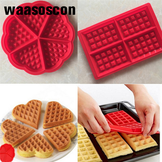 Waffle Makers Silicone Cake Mould Waffle Mould Silicone Bakeware Set Nonstick Silicone Baking Mold Set Muffin For Kids