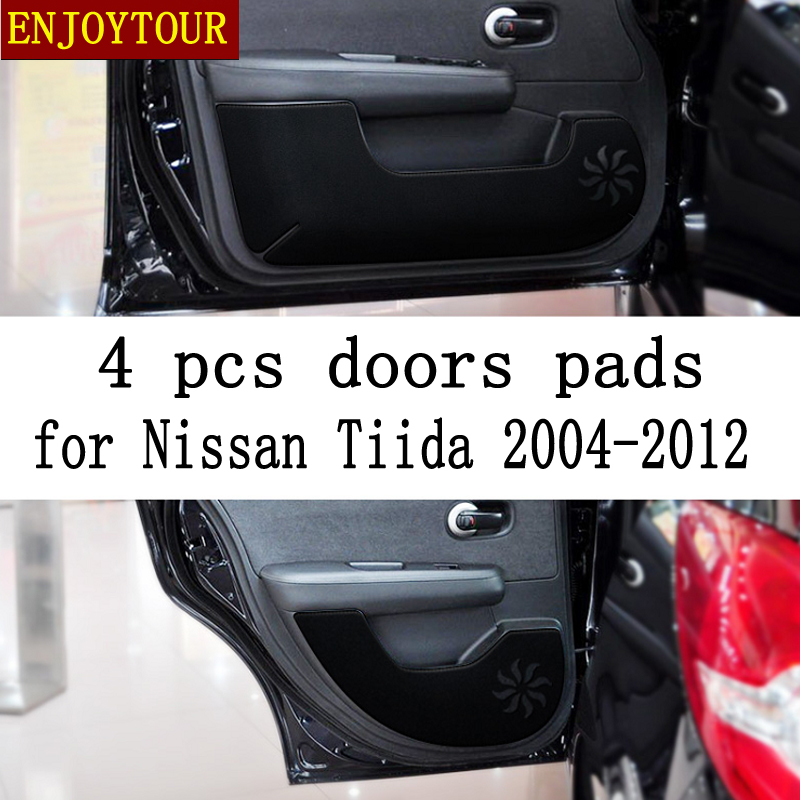 Car Pads Front Rear Door Seat Anti-kick Mat Car-styling Accessories For Nissan Tiida 2004 2005 2006 2007 2008 2010 2011