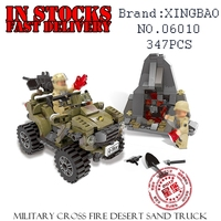 XingBao Military 06010 347PCS MILTARY The Oprah Sand Car Building Blocks Bricks Enlighten Toys For Children