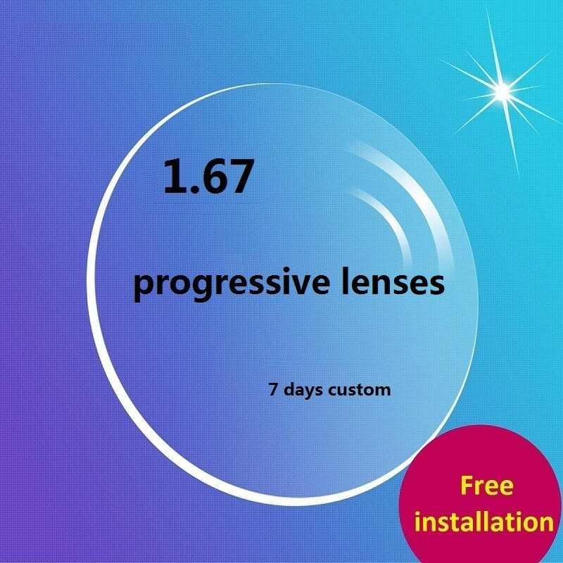 9bc047a3990 1.67 custom progressive glasses aspherical brand Progressive No-Line  Multi-Focal Prescription Customized Optical