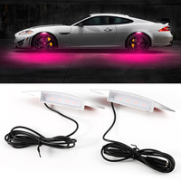 4 LED Flash Universal Atmosphere Lamps LED Car Tyre Wheel Eyebrow Lights Car Styling Exterior