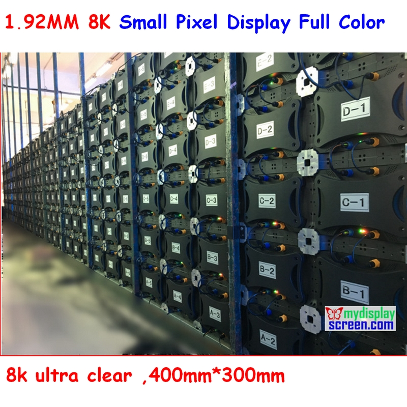 Small Pixel Led Display, 1.92 HD 8k Ultra Clear ,400mm*300mm, High Referesh, High Ratio,  Tv Television And Ultra Clear Display