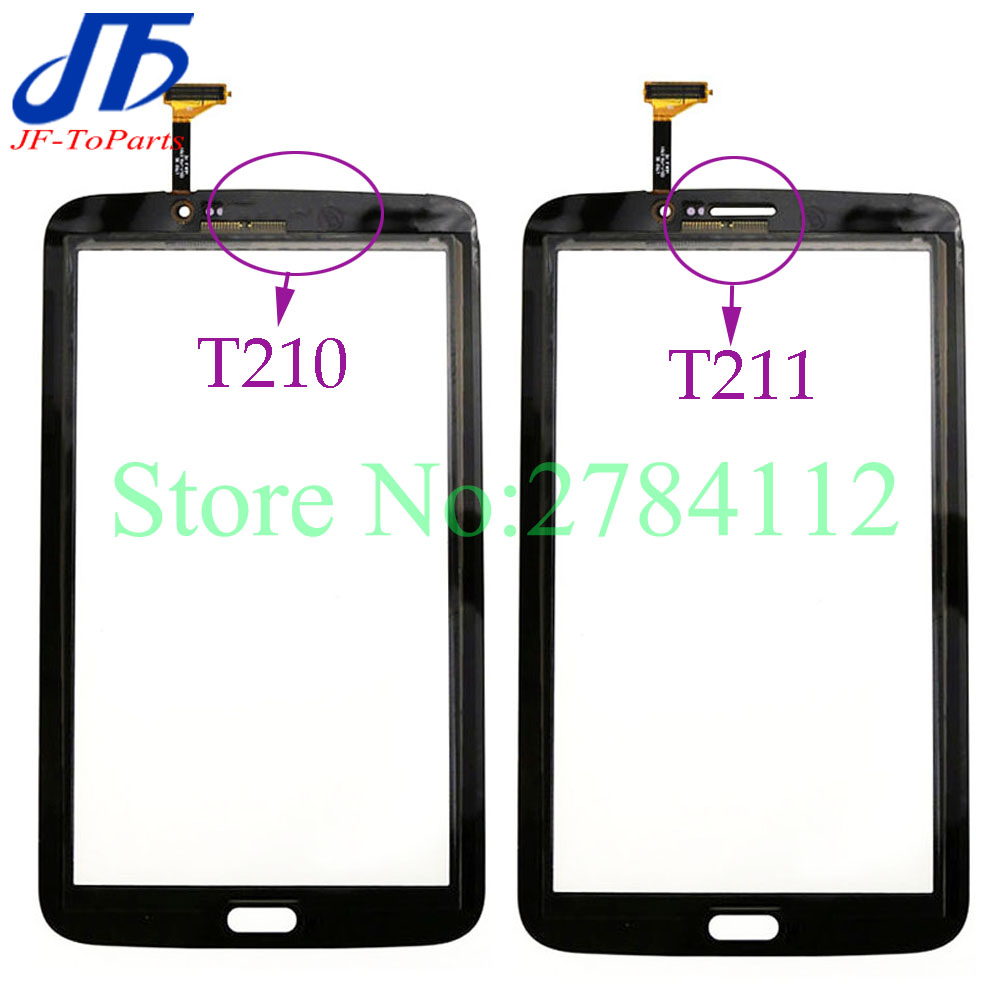 10Pcs touch panel replacement For Samsung Galaxy Tab 3 7.0 T210 / T211 Touch Screen Digitizer Front outer Glass white black