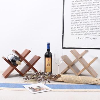 Creative home simple desktop wine racks wood ornaments assembled wine storage rack wine bottle holder mx1021024