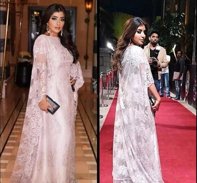 Arabic Dubai Muslim Evening Dresses 2019 High Quality Red Carpet Celebrity Formal Holiday Wear Celebrity Party Gowns Plus Size