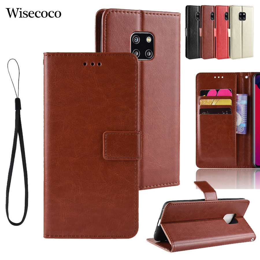 Luxury Leather Flip Case for Huawei <font><b>Mate</b></font> <font><b>20</b></font> 10 P20 P30 Pro <font><b>Lite</b></font> Honor V20 8x 8a 10 Y5 Y6 Prime Y9 2018 2019 Magnet Wallet Cover image