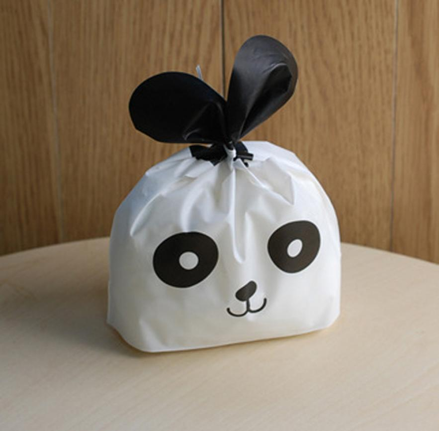 wedding cake take home bags 50 pcs panda plastic bag wedding biscuit 26204
