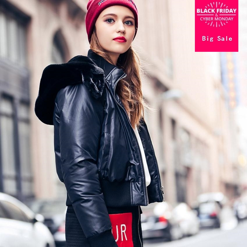 2019 new 90% duck   down     coat   fashion brand hooded short   down   jacket women's fashion letters on the back good quality   coat   wj2120