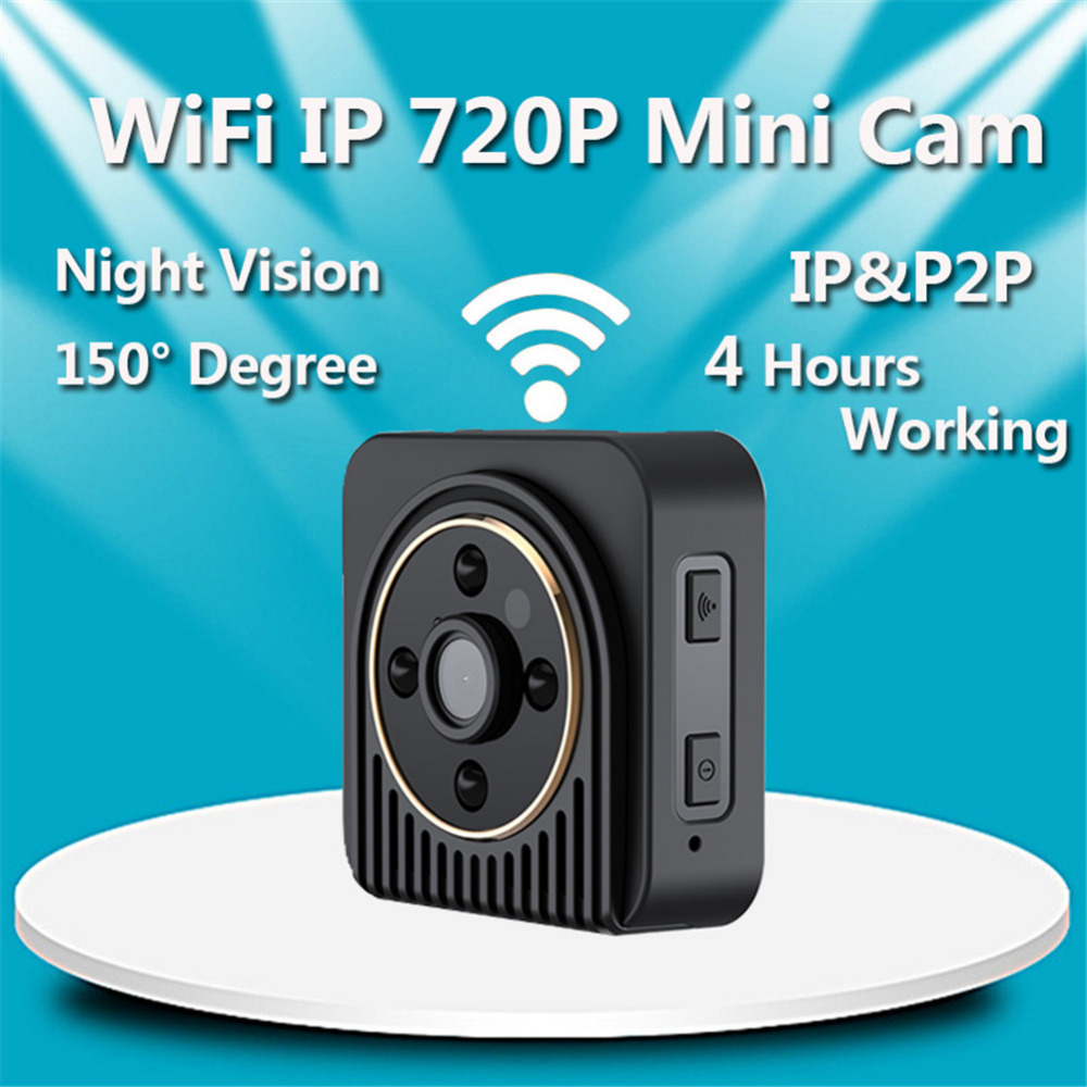 2018 New Wireless Wifi H5 Mini Security Camera HD 720P IP Night Vision Camcorder Camera Baby sitter ...