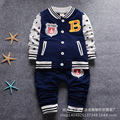 Vestidos 2016 New Spring Autumn Children Baseball Hooded Outwear+Pants 2pc Sport Suits Unisex Baby Boys Girls Clothing Sets