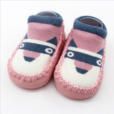 US $2.33 36% OFF|Baby schuhe socken Kinder Infant Cartoon Fuchs Eule Socken Kleinkind Indoor Hause Socken Weiche PU Leder Sohle Socke Anti slip