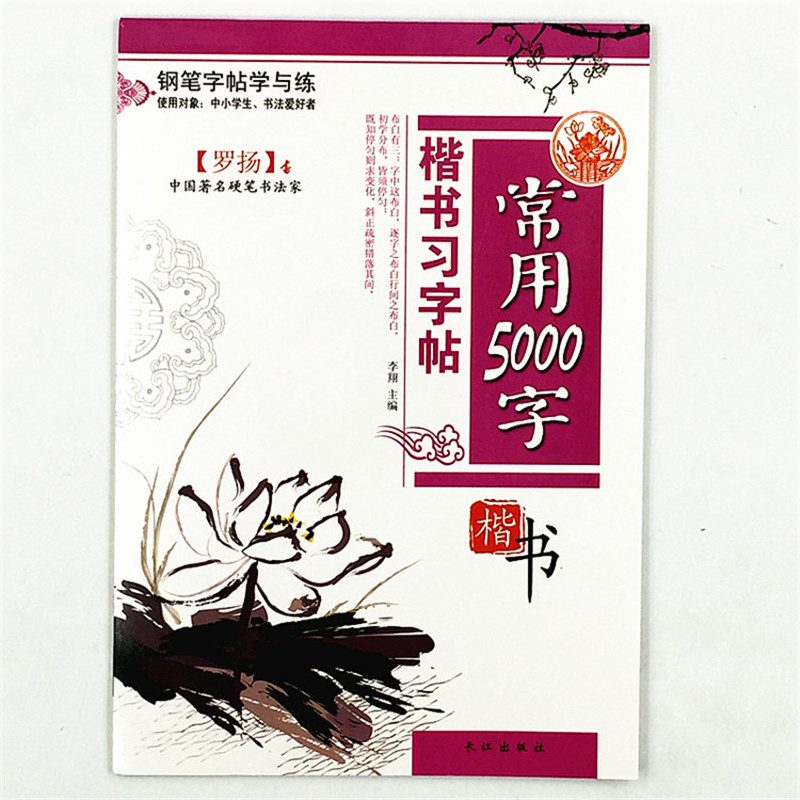 5000 Chinese Characters Word Pen Copybook Hard Pen