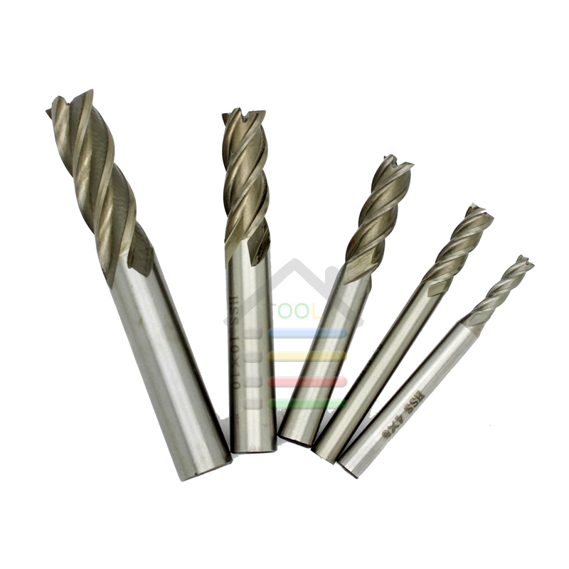 New 1pc HSS CNC 4 Flutes End Mill Milling Cutter Wood Thin Metal Drill Bits 1.5 2 2.5 3 4 5 6 7 8 10 12 14 mm Straight Shank new 10pcs jobbers mini micro hss twist drill bits 0 5 3mm for wood pcb presses drilling dremel rotary tools