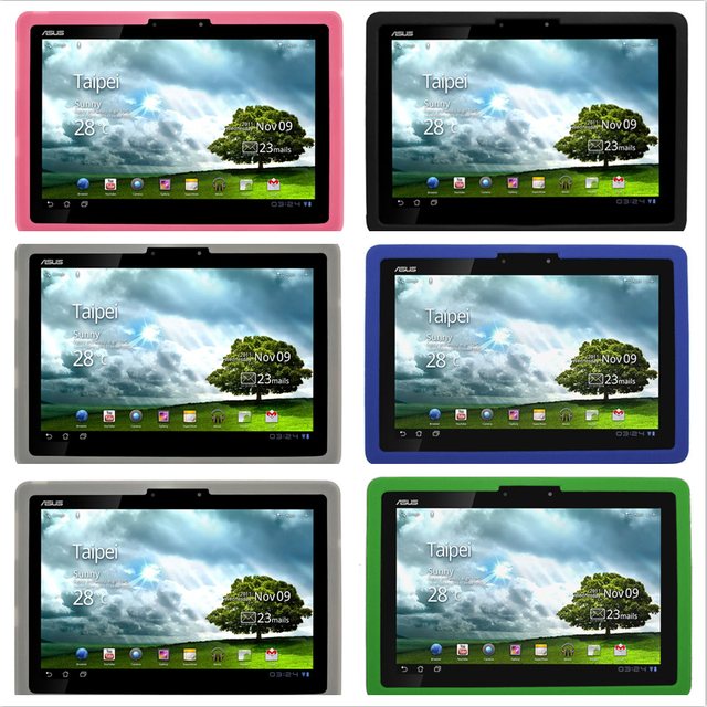 Silicone Case for Asus Transformer TF201 Case Rubber Gel Skin Cover TF201 Edd Pad Prime 10.1'' Tablet Cases Covers TF 201