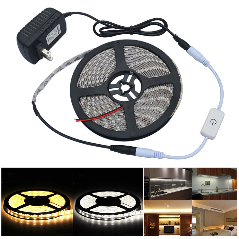 Jiawen 5m Waterproof Led Lights Strip With Automatic Touch