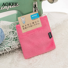 AOKEE Brand New Microfiber Hand Towels Baby Quick Dry 30*30cm Coral Velvet Face Small Towel Kid Wholesale A0060