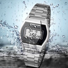 SANDA Sport Men Watches Top Brand Luxury Stainless Steel Electronic Wristwatches LED Digital Wrist Watches For Male Clock