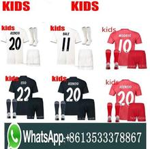 54678accd 2019 Kids Kit Real Madrid Football Jersey 201819 Home White Away Boy Soccer  Jerseys ISCO ASENSIO