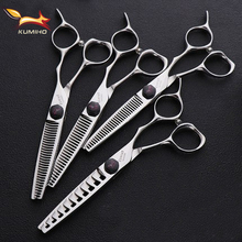 KUMIHO new arrival hair shear VG10 chunker hairdressing thinner professional scissors for stylist free shipping