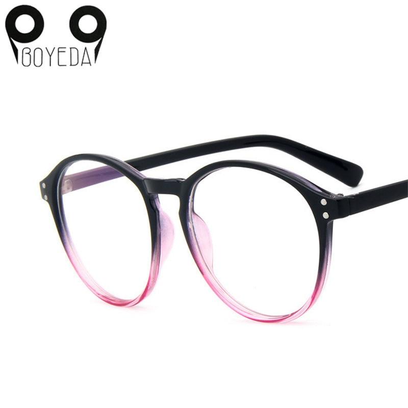 ᐃBOYEDA Hot New Fashion Brand Multi-color Circular Glasses Female ...