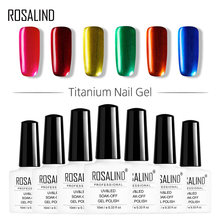 ROSALIND 10ML Gel esmalte de uñas plata titanio Color UV LED Gel barniz uñas arte Semi estampado permanente Gel laca Soak Off(China)