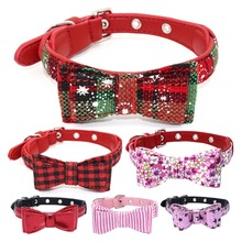 Cute Pets Plaid Dog Collar With Bowtie Puppy Adjustable Bowknot Collars For Small Medium Dogs Cats Chihuahua collars perro