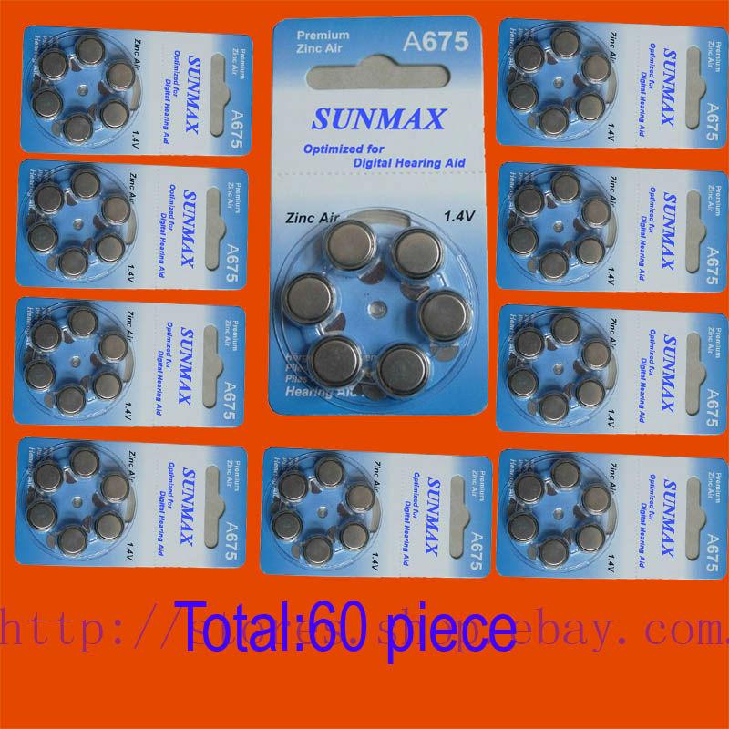 New  60x Hearing Aid A675 675A ZA675 675 PR44 Battery