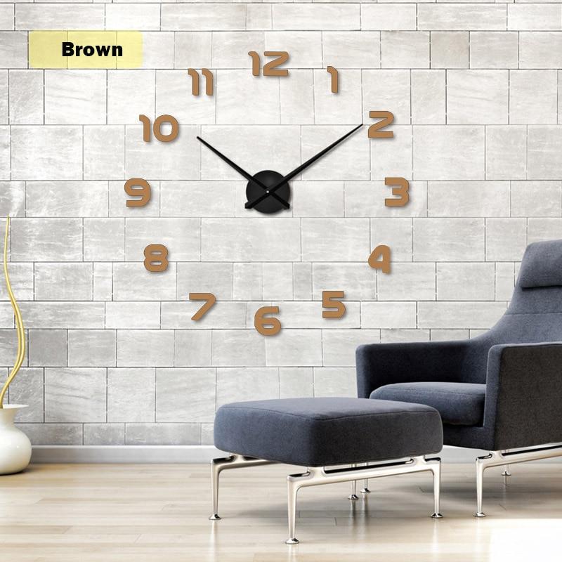 Livraison gratuite 2019 New Metall Moderne 3D DIY Horloge Murale - Décor à la maison - Photo 3