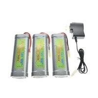 3x7.2 v 4600 mah ni-mh bateria recarregável + carregador eua/ue/au/uk plug adaptador