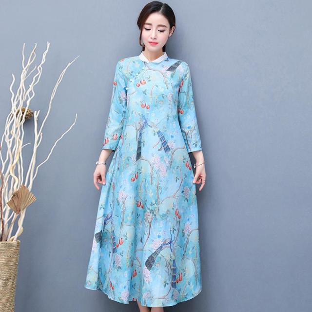 Plus Size Large Retro Pregnant Women Dress QiPao Party Maternity ...