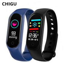 Chigu M3S Smart Bracelet Fitness Tracker Blood Pressure Heart Rate Monitor Relogio Smart Band 3 For Xiaomi Mi Android IOS Phone