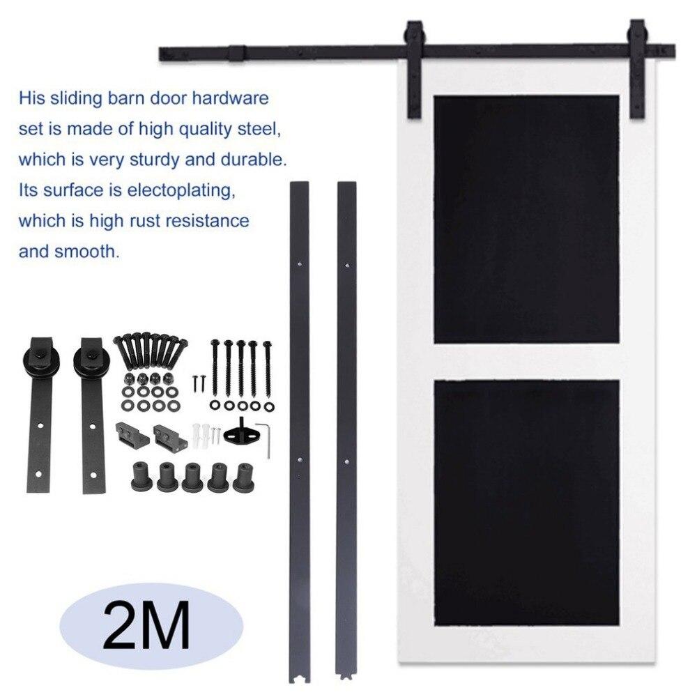 Античная страна Сталь рельс двери сарая легко установить Комплектующие дверей для дома Ванная комната Спальня Кухня балкон
