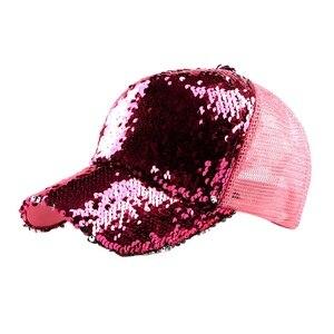 2018 новая трендовая женская летняя кепка с блестками, козырек, корейская шляпа для бега, велосипедная Кепка для гольфа, женская кепка для гол...