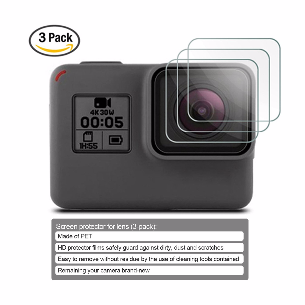 Image 5 - Action Camera Accessories For GoPro Hero 7 6 5 Waterproof Case Travel Screen Protector Lens Filter Silicone Protective Case Bag-in Sports Camcorder Cases from Consumer Electronics