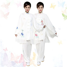 Customize Chinese taichi uniform Kungfu clothing Martial arts suit wushu outfit embroidery for girl children women kids female