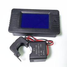 Однофазный цифровой ватт измеритель коэффициента мощности PZEM-022 переменного тока 220 В 6 в 1 Ток Напряжение Мощность Частота счетчик энергии с разделением CT