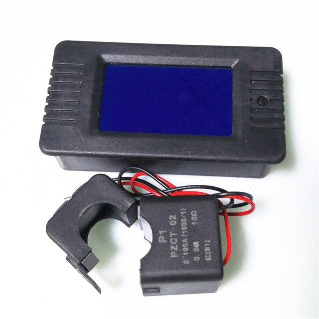 PZEM-022 AC 6in1 monophasé 220 V numérique Watt facteur de puissance mètre courant tension puissance fréquence compteur d'énergie avec Split CT